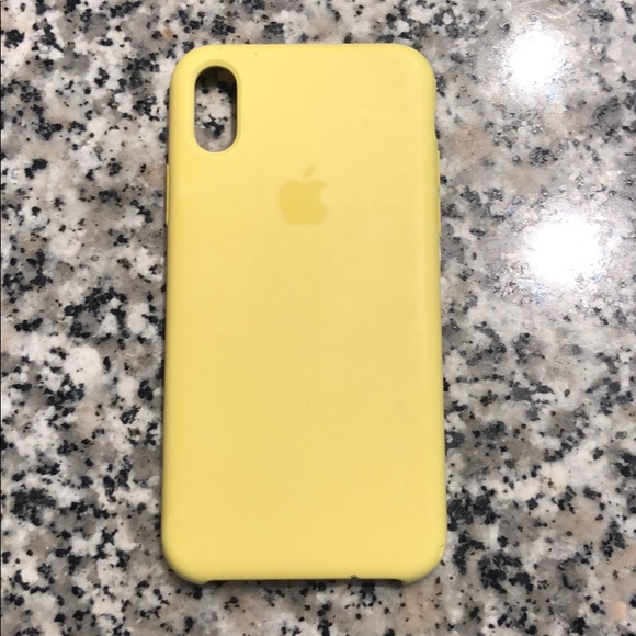 the latest a0618 cc0f0 Yellow Apple iPhone X case